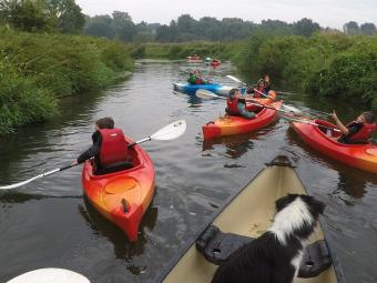 Kayak with Dijle Floats