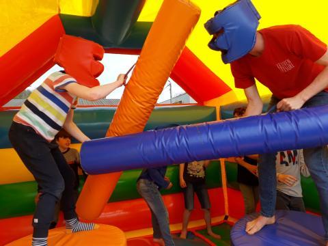 Inflatable Games Verjaardagsfeestje te Oud-Heverlee