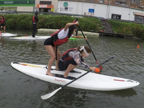 Sportdag SUP Teambuildings Spelen bij Dijle Floats