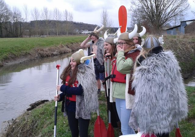 Noormannentocht, Dijle afvaart, kano tot Leuven