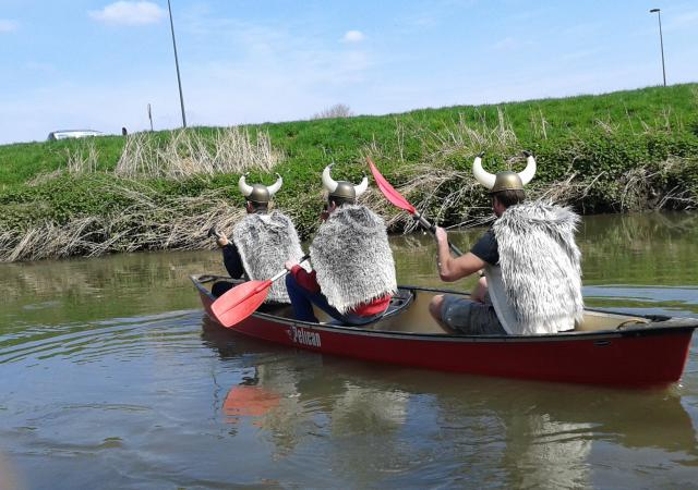 Noormannentocht, Dijle afvaart, kano