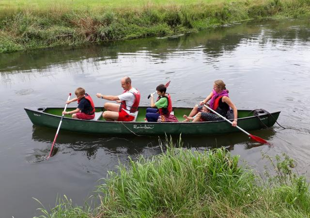Canoeing on the Dijle