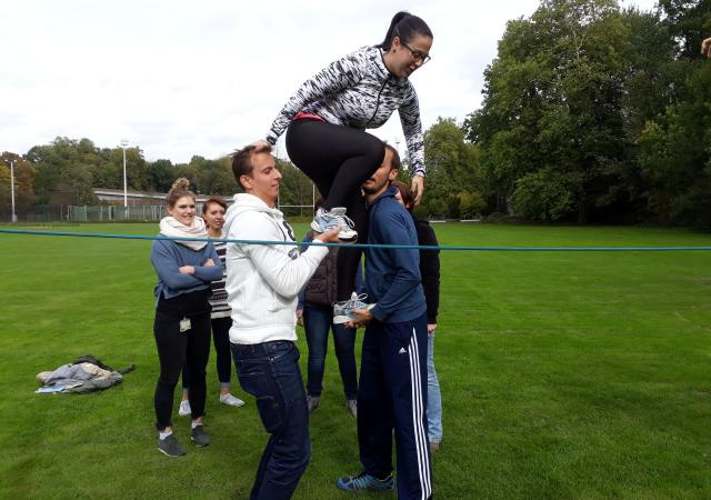 Teambuilding with Dijle Floats