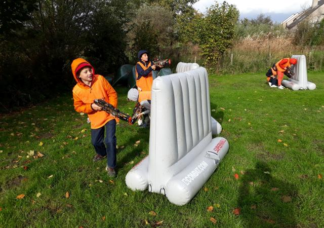 Sportdag Lasertag Games with Dijle Floats
