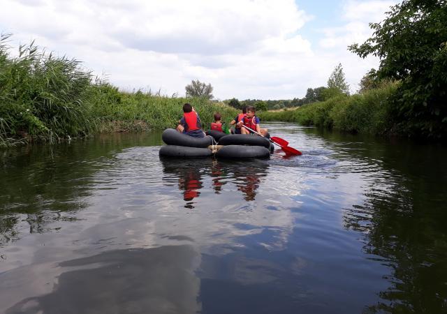 Sportdag Lager Onderwijs bij Dijle Floats te Oud-Heverlee
