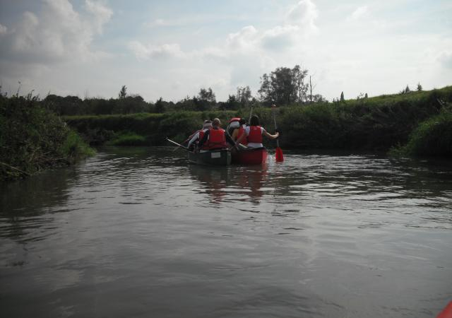 Blindemansvaren per kano, teambuilding