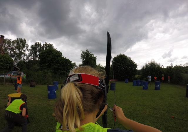 Archery Tag bij Dijle Floats