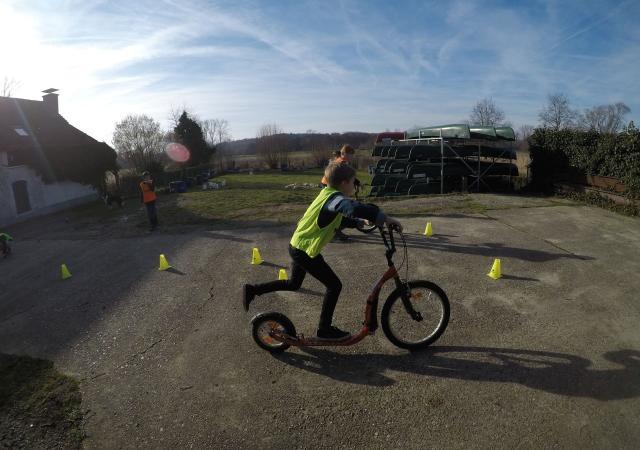 Kickbike-race tijdens Zes-kamp te Oud-Heverlee