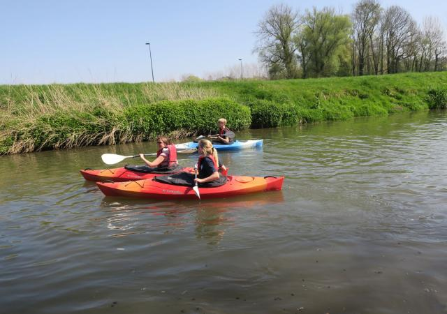 Kayak with Dijle Floats
