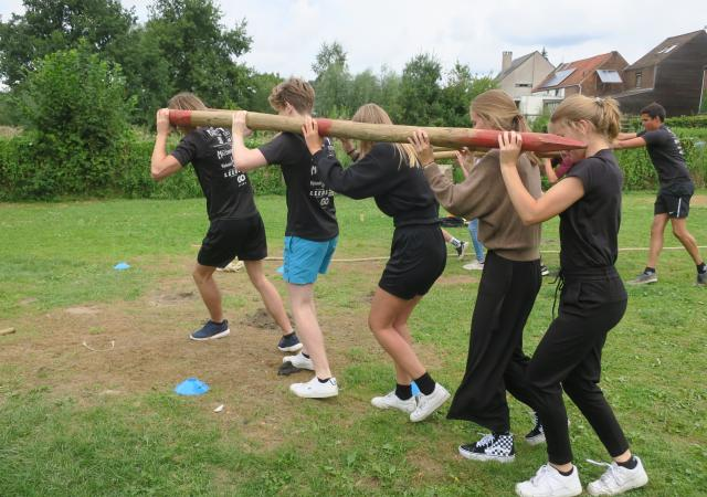 Teambuildingsspelen te Oud-Heverlee